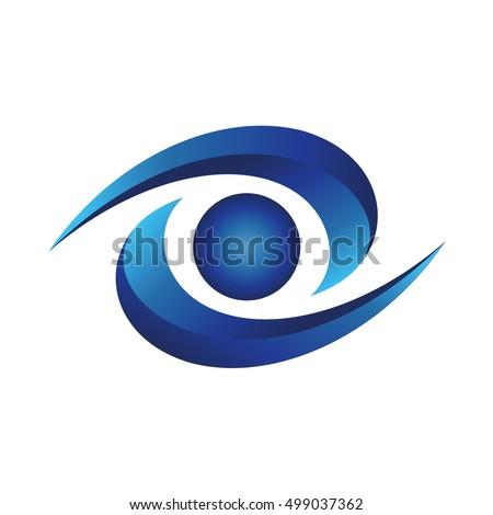 Blue Eye Logo Stock Vector Royalty Free 499037362 Shutterstock