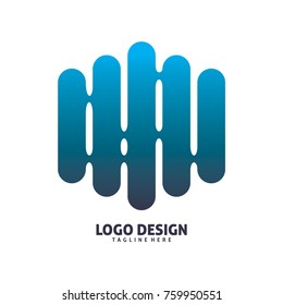 blue fence logo design