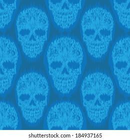 Blue File Skull Pattern