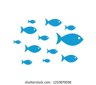 Blue Fish Icons vector