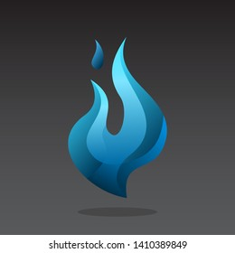 blue flame icon design inspiration . flame logo template . blue flame icon . flame vector . blue fire