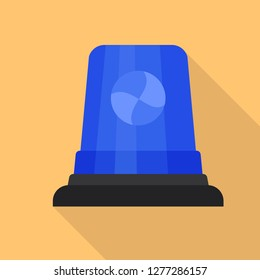 Blue flasher icon. Flat illustration of blue flasher vector icon for web design