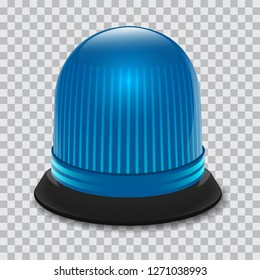 Blue flasher icon. Realistic illustration of blue flasher vector icon for web design
