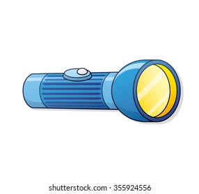 Blue flashlight.