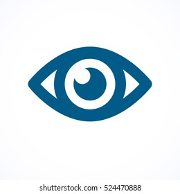 Blue flat eye icon
