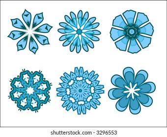 Blue Flower Figures
