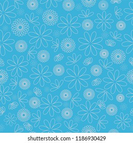 Blue Flower Texture repeat pattern background. Perfect for scrapbooking , textile ,fabric design and wall paper projects