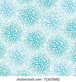 Blue Flowers - abstract background pattern - vector eps10