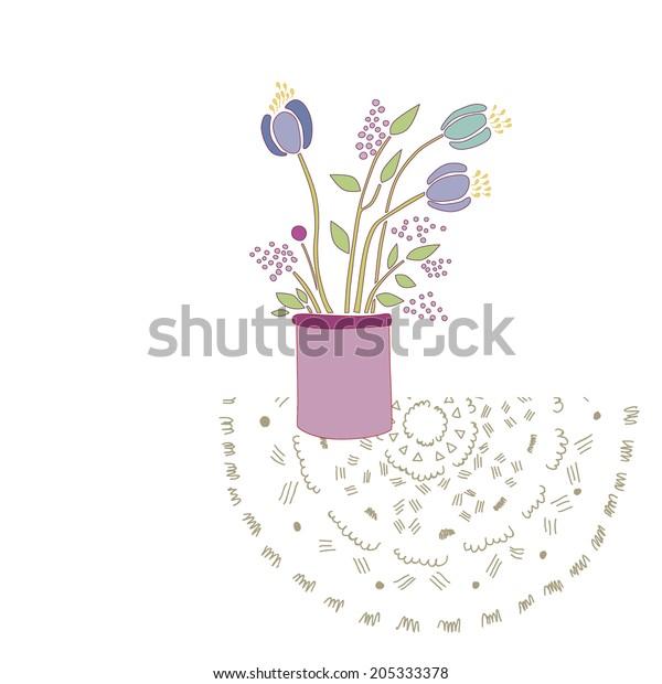 Blue Flowers Vase Vector Stock Vector (Royalty Free) 205333378 on books vector, basket vector, art vector, box vector, decor vector, candle vector, animals vector, roses vector, floral vector, pottery vector, mirror vector, beer mug vector, teapot vector,