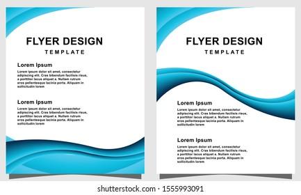 Blue flyer design template vector illustration
