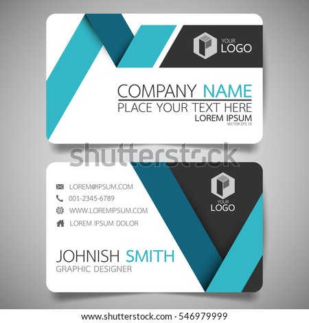 Blue fold modern creative business card stock vector royalty free blue fold modern creative business card and name cardhorizontal simple clean template vector design cheaphphosting Image collections