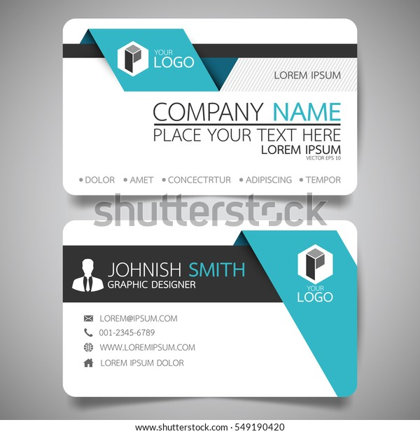 Blaue Moderne Kreative Visitenkarte Und Namenskarte Stock