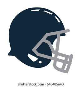 blue football helmet protection equipment side view