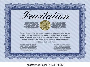 Formal invitation stock vectors images vector art shutterstock blue formal invitation with guilloche pattern detailed money design stopboris Images