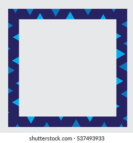 Blue frame with blue decoration
