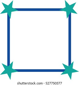 Blue frame with stars on the edges