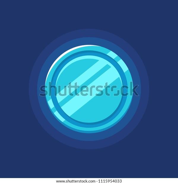 Blue Futuristic Coin Token Icon Concept Stock Vector (Royalty Free