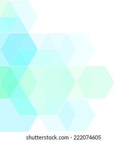 Blue geometric modern background design.