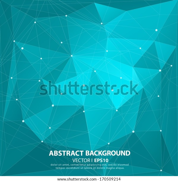 Blue geometric pattern, triangles background, polygonal design. Starry sky, constellations.  Vector EPS 10 illustration.