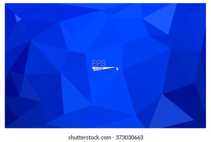 Blue geometric rumpled triangular low poly origami style gradient illustration graphic background. Vector polygonal design for your business.