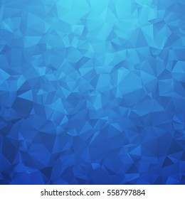 Blue geometric triangular background. Abstract vector illustration.