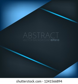 Blue geometric vector background with dark spaces for design