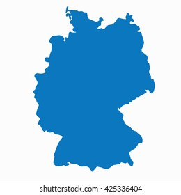 blue germany map vector european german country icon