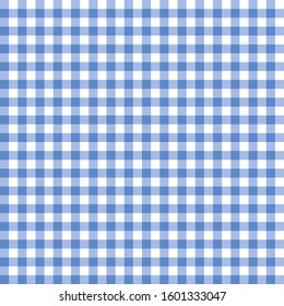 Blue gingham check seamless pattern vector.