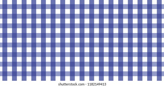 Blue Gingham Pattern. Texture From Rhombus/squares For   Plaid, Tablecloths,  Clothes