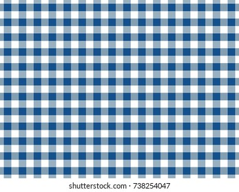 Blue Gingham Tablecloth Seamless Background Pattern Design