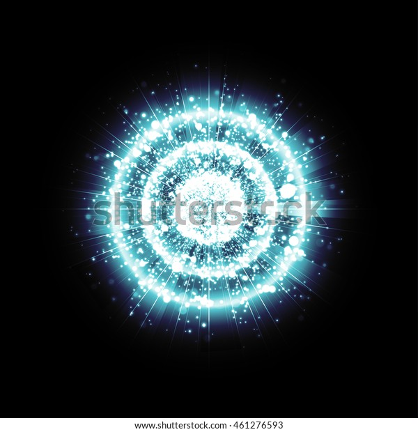 Blue Glitter Particles Background Effect Star Stock Vector (Royalty