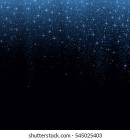 Blue glitter stardust background. Vector illustration.