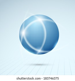Blue globe - connection concept. Vector illustration