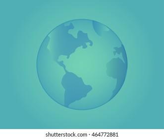 Blue globe illustration isolated .color background