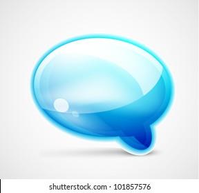 Blue glossy chat box