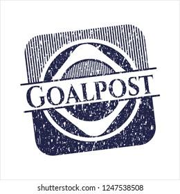 Blue Goalpost distress grunge seal