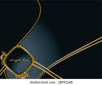 Blue Gold Elegant background 4 - vector