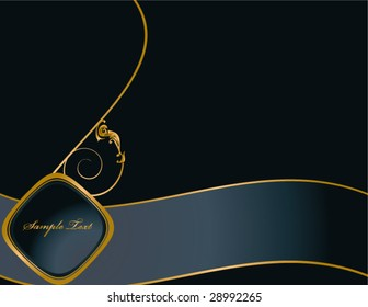Blue Gold Elegant background 5 - vector