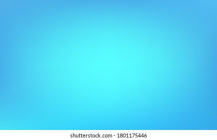Blue gradient vector background with blurred texture. Soft digital graphic design. Abstract blue color gradient background for business covers. Vivid blurry banner or poster backdrop.
