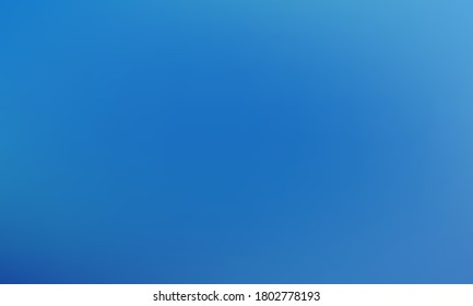 Blue gradient vector wallpaper with blurred texture. Smooth digital graphic design. Empty blue color gradient background for business covers. Web or brochure backdrop, sky, ice, underwater concept