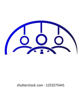 Blue Gradual Logo Team Work, Unity and Loyality
