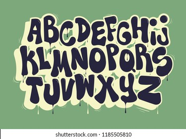 Blue graffiti font.Typography for poster,t-shirt or stickers.