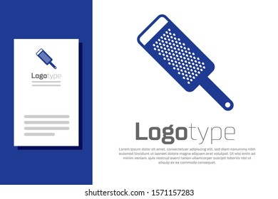 Blue Grater icon isolated on white background. Kitchen symbol. Cooking utensil. Cutlery sign. Logo design template element. Vector Illustration