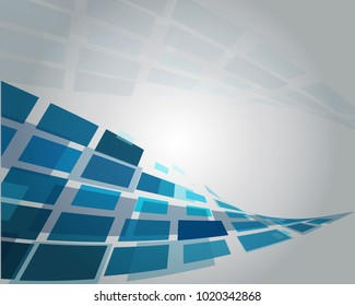 Blue and  Gray Abstract background with polygonal shapes
