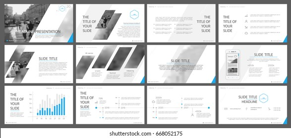 Blue and gray elements for infographics on a white background. Presentation templates. Use in presentation, flyer and leaflet, corporate report, marketing, advertising, annual report, banner.