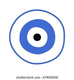 blue greek evil eye vector - symbol of protection
