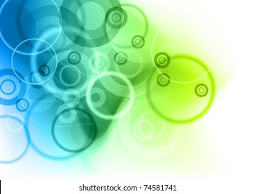 blue and green abstract background