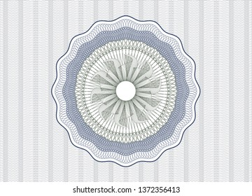 Blue and green abstract linear rosette