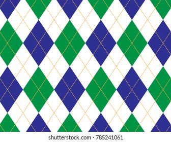 Blue and Green Argyle Background