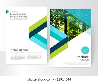 blue and green Brochure, leaflet, flyer, poster template. stock-vector abstract background. EPS 10